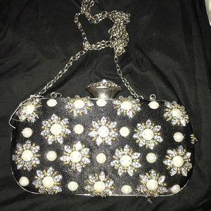 Bejeweled clutch